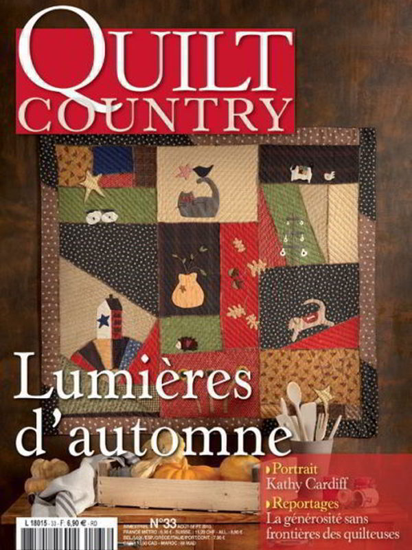 QUILT COUNTRY N° 33 - LUMIERES D'AUTOMNE