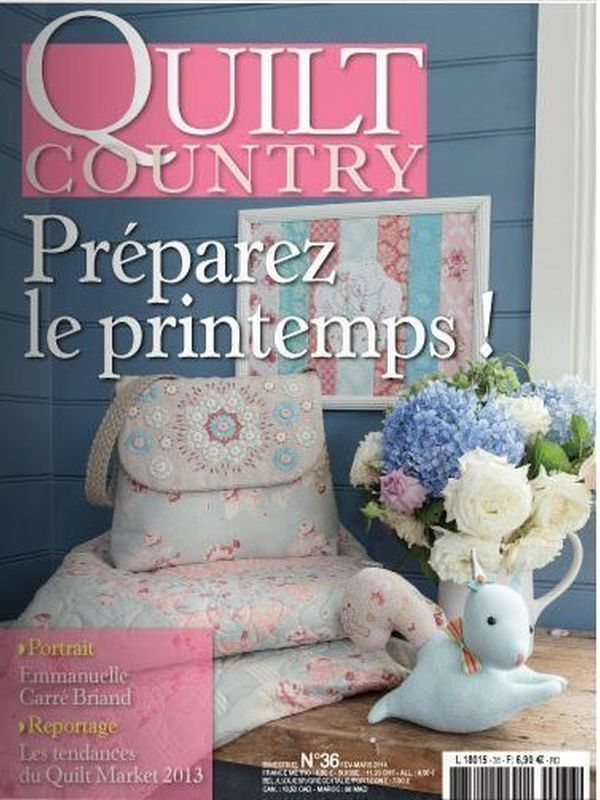 QUILT COUNTRY N° 36 - PREPAREZ LE PRINTEMPS
