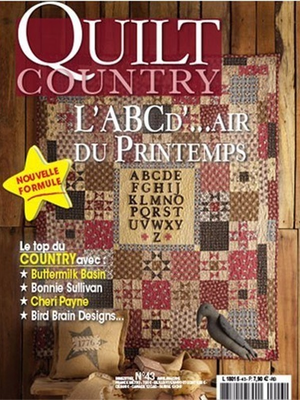 QUILT COUNTRY N° 43 - L'ABC d'...air du Printemps