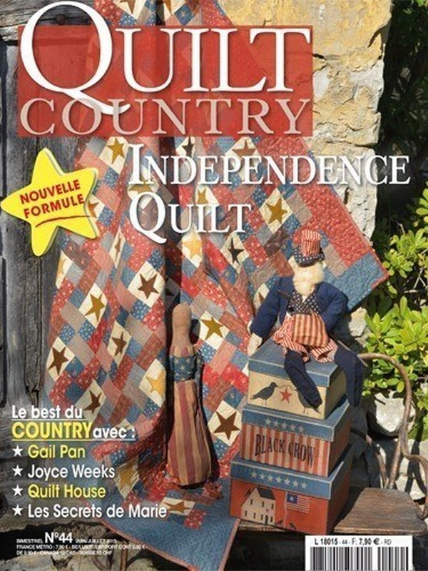 QUILT COUNTRY N° 44 - INDEPENDENCE QUILT