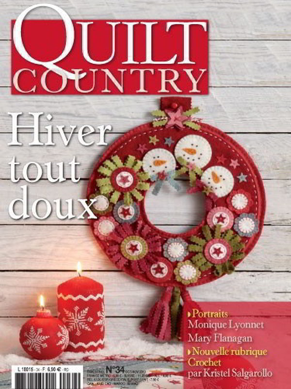 QUILT COUNTRY N° 34 - HIVER TOUT DOUX